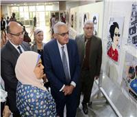 افتتاح معرض الفنون التشكيلية عن أم كلثوم بجامعة المنصورة