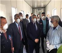 صور.. نائب وزير الطيران يتفقد مطار برج العرب بـ«الكمامة»