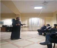 الأنبا باخوم يلتقي شباب كنيسة العائلة المقدسة بالزيتون