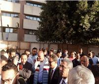 صور  كرم جبر يطمئن على سير الانتخابات بمؤسسة أخبار اليوم قبل إغلاق التصويت