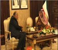 وزير الخارجية يلتقي  رئيس مجلس وزراء الكويت
