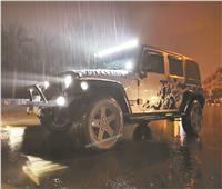 صور| «جيب اسكواد».. 20 سيارة في مهمة إنقاذ السيارات الغارقة بسبب الأمطار