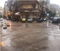 بالصور| أمطار رعدية وبرق.. «منخفض التنين» يجتاح الإسكندرية