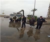 رغم منخفض التنين.. رجال الأمن يجوبون شوارع المحافظات   صور
