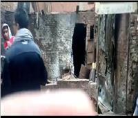 «منخفض التنين»| حريق بورشة دهانات بقليوب نتيجة ماس كهربائي بسبب الأمطار «فيديو»