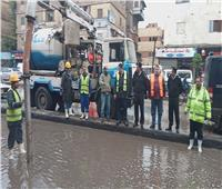 منخفض التنين| نائب محافظ القاهرة يتابع إزاحة تجمعات مياه الأمطار بالشوارع
