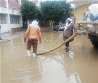 منخفض التنين| غرق مستشفى بهتيم المركزي والمحافظة تدفع بسيارات لشفط المياه