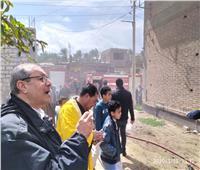 السيطرة على حريق نشب داخل مصنع نسيج بادكو دون خسائر بشرية
