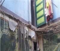 منخفض التنين| سقوط سقف منزل بأبو المطامير وإصابة صاحبة