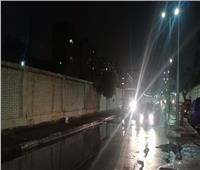 صور| لليوم الثالث على التوالي.. نائب محافظ القاهرة يتابع شفط مياه «منخفض التنين»