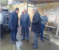 صور| محافظ القاهرة يتفقد أحياء العاصمة لمتابعة شفط مياه «منخفض التنين»
