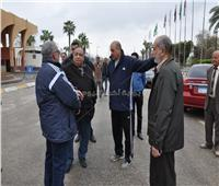 رئيس جامعة حلوان يتفقد منشآت الجامعة لمتابعة تداعيات سوء الأحوال الجوية