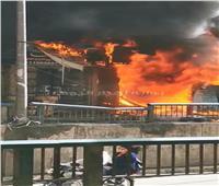 صور| السيطرة على حريق هائل بمحل «فلاتر» في الإسكندرية