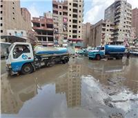 أم بيومي بشبرا الخيمة بدون رئيس حي.. والأهالي: المياه أغرقت الشوارع