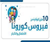 إنفوجراف | 10 طرق للوقاية من فيروس كورونا للأطفال والكبار