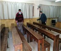 صور| إجراءات احترازية للوقاية من فيروس كورونا بتعليم القاهرة