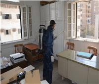 تعقيم مبني وزارة العدل لمواجهة فيروس كورونا