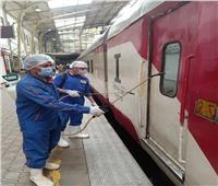السكة الحديد: انتظام الحركة بجميع الخطوط.. واستمرار تعقيم القطارات