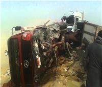 إصابة ٦أشخاص في  حادث تصادم بالطريق الصحراوي بالبحيرة
