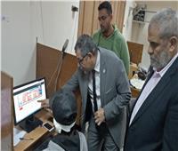 جامعة بنها تطمئن على غرفة عمليات التعلم عن بعد ورفع المناهج إلكترونيًا للطلاب