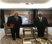 في ثاني محطة بجولته في القارة... وزير الخارجية يلتقي رئيس جنوب أفريقيا
