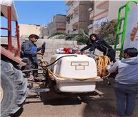 مشاركة مجتمعية بمدينة العريش لتعقيم وتطهير الشوارع للوقاية من كورونا