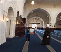 خاص| تجهيز ساحة المسجد الجامع بمدينتي لأداء صلاة الجمعة