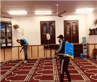 شباب قليوب يعقمون المساجد استعدادا لصلاة الجمعة