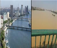 فيديو| مياه النيل تعود إلي طبيعتها بعد اختفاء رواسب الأمطار