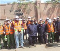 عمال نظافة الجيزة يتحدون كورونا بالكمامات والقفزات والمطهرات