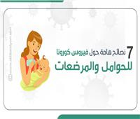 إنفوجراف| 7 نصائح هامة حول فيروس «كورونا» للحوامل والمرضعات