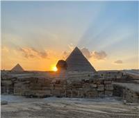 ظاهرة فلكية متميزة للشمس في منطقة الهرم
