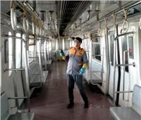 استمرار تعقيم القطارات ومحطات المترو ضد «كورونا»