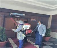 رئيس جامعة دمنهور يتابع أعمال التطهير والتعقيم بجميع المنشآت