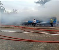فيديو وصور| تفحم أتوبيس بمنطقة قصر القبة والحماية المدنية تسيطر على الحريق