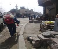 صور| تطهير وتعقيم الشوارع والمساجد في حي الخليفة