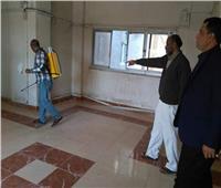توزيع مهمات وقاية صحية على عمال النظافة في السويس