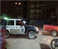 حظر التجوال| قوات الأمن تنتشر بشوارع بولاق الدكرور