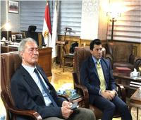 صبحي يشهد إجتماع توماس باخ وحسن مصطفى مع رؤساء الإتحادات الرياضية الدولية