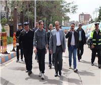 محافظ الغربية ومدير الأمن في جولة بمدينة طنطا لمتابعة تنفيذ قرار الحظر