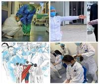 صور هزت قلوب الملايين.. ممرضات في مواجهة «كورونا»