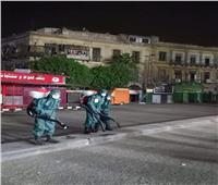 تعقيم شوارع الرويعي والبيدق بالموسكي لمواجهة كورونا