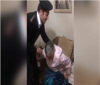 أمن القاهرة ينقل مُسنة للمستشفى وقت حظر التجوال