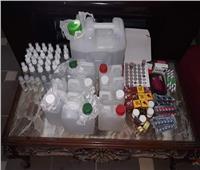 ضبط كحول مجهول المصدر وأدوية غير مسجلة بدمياط