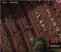 فيديو  مشاهد صادمة لأكبر مقبرة لوفيات كورونا في البرازيل