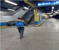 صور| استمرار تعقيم قطارات مترو الأنفاق والمحطات للوقاية من «كورونا»