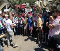 فلسطين: مخيم جنين يتسلم مساعدات طبية وغذائية