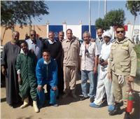 تعقيم وتطهير معسكرات الأمن المركزى بالأقصر