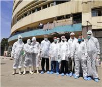 «الخدمات البيطرية » تطهر مبنى ماسبيرو للوقاية من كورونا