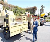 السيسي يتفقد نماذج التجهيزات والمعدات المطورة بالقوات المسلحة لمكافحة كورونا